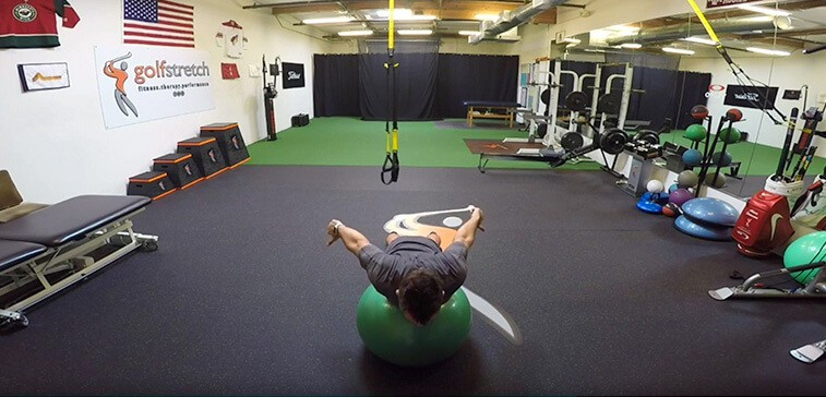 """I's"" On The Ball Shoulder Flexion And Extension"