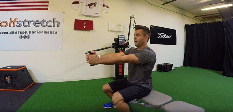 A Golf Exercise For The Core: Lateral Resisted Sit To Stand