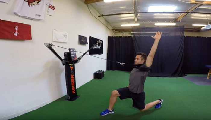 Assisted Lunge With Shoulder Flexion