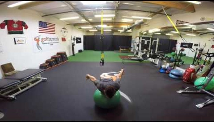 Upper body -  I's  on the ball shoulder flexion & extension