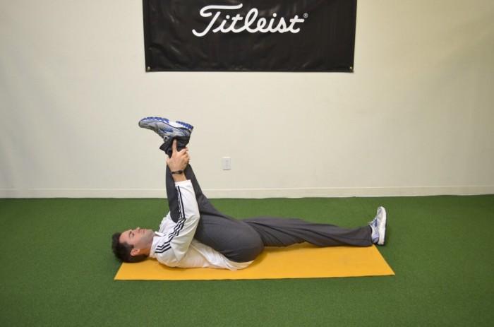Bent leg hamstring stretch