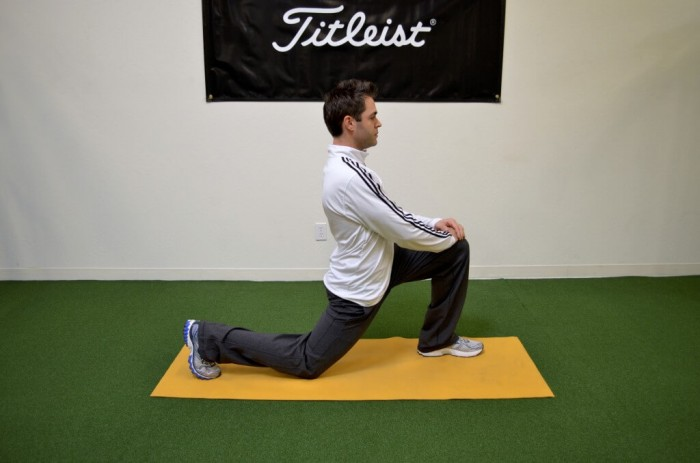 Hip flexor/ Quad stretch