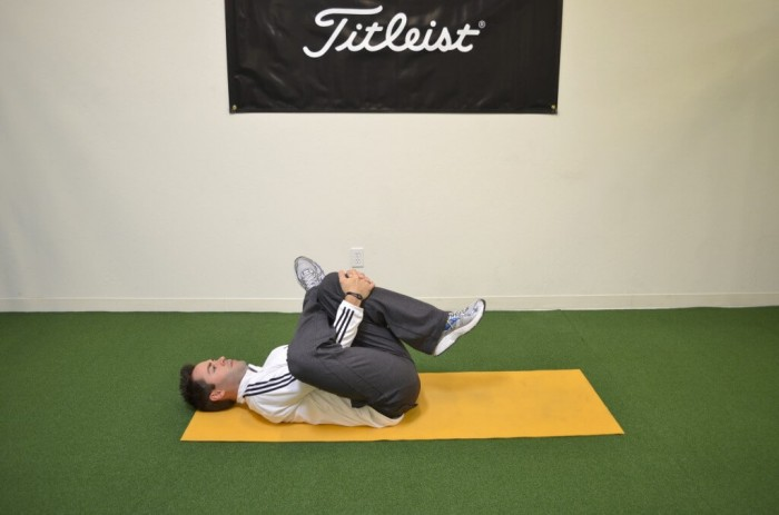 Outer hip/ Glute stretch